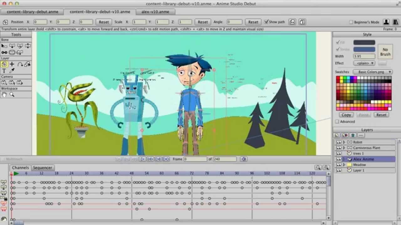 Kursus privat komputer membuat animasi 2d kartun dengan